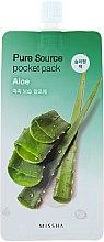 Parfumuri și produse cosmetice Mască de noapte cu extract de aloe vera - Missha Pure Source Pocket Pack Aloe