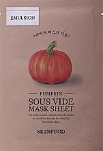Parfumuri și produse cosmetice Маска тканевая с экстрактом тыквы - Skinfood Pumpkin Sous Vide Mask Sheet