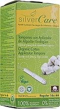 "Parfumuri și produse cosmetice Tampoane din bumbac organic ""Regular"", 16buc - Masmi Silver Care"