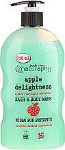 """Parfumuri și produse cosmetice Șampon-gel de duș """"Măr și Aloe Vera"""" - Bluxcosmetics Naturaphy"""