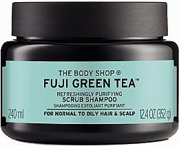 "Parfumuri și produse cosmetice Scrub-șampon pentru păr și scalp ""Ceai verde"" - The Body Shop Fuji Green Tea Cleansing Hair Scrub"