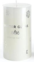 Parfumuri și produse cosmetice Lumânare aromatică, albă, 9x13cm - Artman Winter Glass