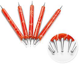 Parfumuri și produse cosmetice Set accesorii pentru designul manichiurii, portocaliu - Silcare