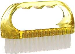 Parfumuri și produse cosmetice Perie cosmetică pentru unghii, 74752, galben - Top Choice