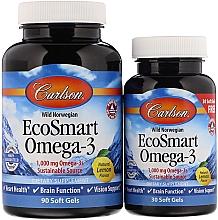 "Parfumuri și produse cosmetice Set ""Omega-3"" - Carlson Labs EcoSmart Omega-3 (gel/90 + gel/30ml)"