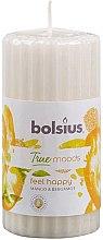 """Parfumuri și produse cosmetice Lumânare parfumată """"Mango și Bergamotă"""", 120/58 mm - Bolsius True Moods Candle"""
