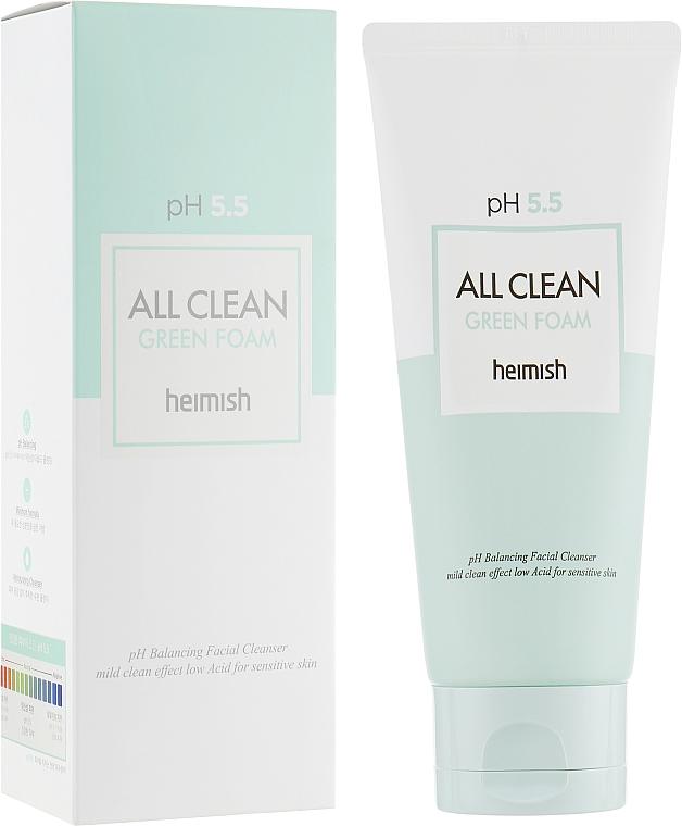 Spumă de curățare pentru față - Heimish All Clean Green Foam pH 5.5
