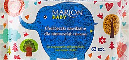 Parfumuri și produse cosmetice Șervețele umede pentru bebeluși, 63buc - Marion