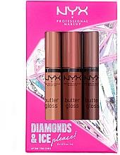Parfumuri și produse cosmetice Set - Diamond & Ice Please! Butter Gloss Trio Gift Box 1 (lip/gloss/3x8ml)