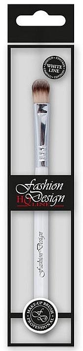 Pensulă pentru fard de ochi, 37221 - Top Choice Fashion Design White Line