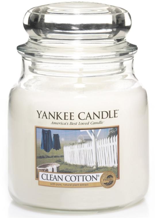 Lumânare în borcan din sticlă - Yankee Candle Clean Cotton