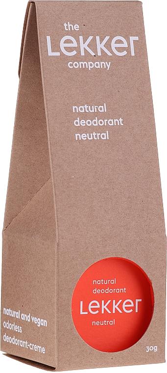 Deodorant natural, fără miros - The Lekker Company Natural Deodorant Neutral