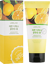 Parfumuri și produse cosmetice Spumă detox cu lămâie de curățare pentru față - Lebelage Lemon Detox Cleansing Foam