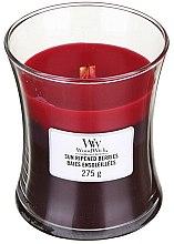 Parfumuri și produse cosmetice Lumânare aromată cu suport din sticlă - WoodWick Hourglass Trilogy Candle Sun Ripened Berries