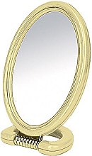 Parfumuri și produse cosmetice Oglinda ovală în două părți, pe stand, 11x15 cm - Donegal Mirror
