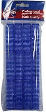 Parfumuri și produse cosmetice Bigudiuri cu arici 16/63, albastru - Ronney Professional Velcro Roller