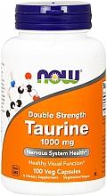 "Parfumuri și produse cosmetice Aminoacid ""Taurina"" 1000 mg - Now Foods Taurine 1000mg Double Strength Veg Capsules"