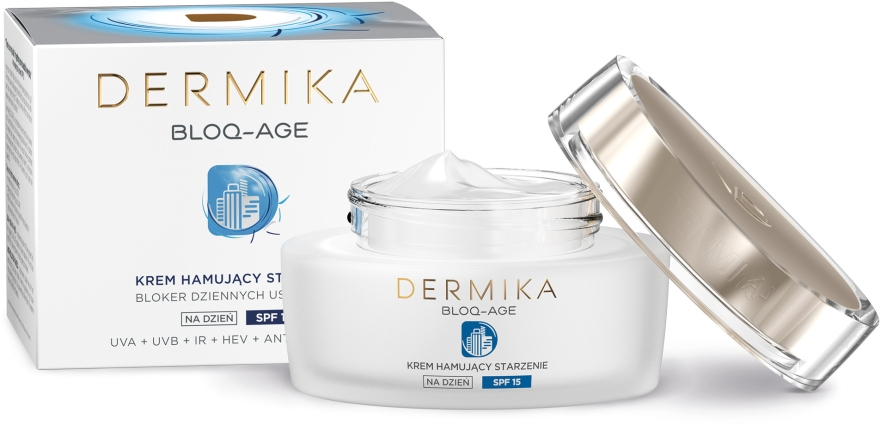 Cremă de zi pentru față - Dermika Bloq-Age Anti-Ageing Cream SPF15 — Imagine N4