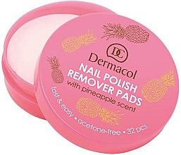 Parfumuri și produse cosmetice Șervețele pentru îndepărtarea lacului de unghi - Dermacol Nail Polish Remover Pads