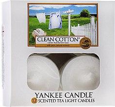 Parfumuri și produse cosmetice Lumânări pastile - Yankee Candle Scented Tea Light Candles Clean Cotton