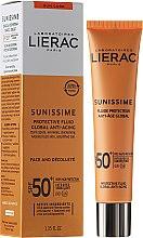 Parfumuri și produse cosmetice Emulsie pentru față și decolteu - Lierac Sunissime Fluide Protecteur Anti-Age SPF50+
