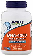 Parfumuri și produse cosmetice Capsule DHA pentru îmbunătățirea funcției creierului, 1000 mg - Now Foods DHA-1000 Brain Support