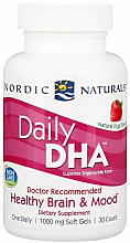 """Parfumuri și produse cosmetice Supliment alimentar cu aromă de căpșuni 1000 mg """"Ulei de pește"""" - Nordic Naturals Daily DHA"""