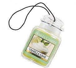 "Parfumuri și produse cosmetice Aromatizator ""Vanilie și lime"" - Yankee Candle Vanilla Lime Car Jar Ultimate"