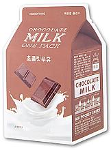 """Parfumuri și produse cosmetice Mască de față """"Ciocolată"""" - A'pieu Chocolate Milk One-Pack Soothing"""