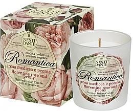 """Parfumuri și produse cosmetice Lumânare aromatică """"Trandafir florentin și Bujor"""" - Nesti Dante Romantica Florentine Rose & Peony"""