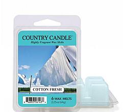 Parfumuri și produse cosmetice Ceară pentru lampă aromatică - Country Candle Cotton Fresh Wax Melts