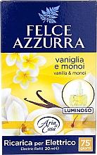 Parfumuri și produse cosmetice Электрический диффузор - Felce Azzurra Vanilla & Monoi Oil (сменный блок)