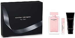 Parfumuri și produse cosmetice Narciso Rodriguez For Her - Set (edp/100ml + b/lot/75ml + edp/mini/7.5ml)
