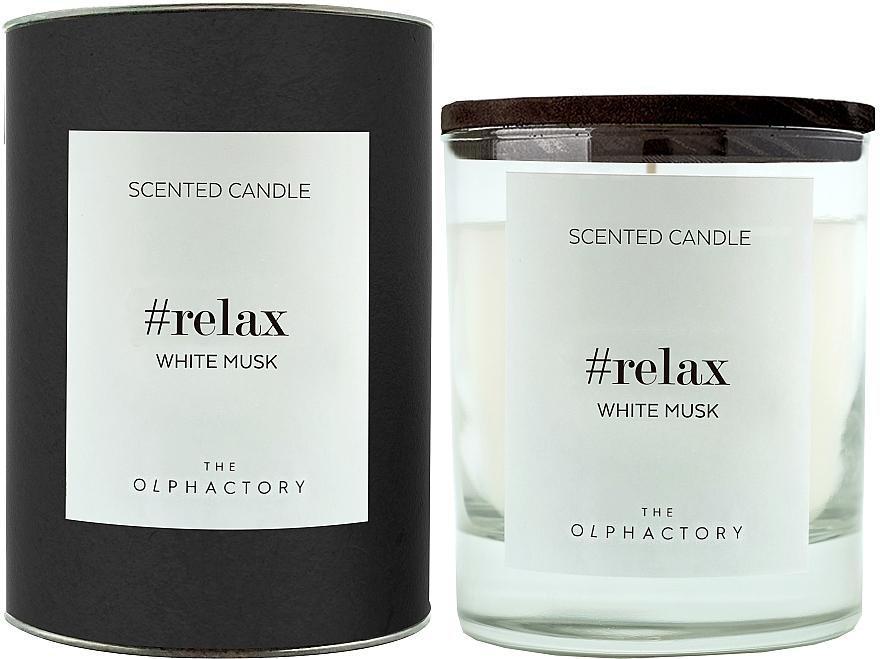 "Lumânare parfumată ""Mosc alb"" - Ambientair The Olphactory Relax White Musk Black Design"