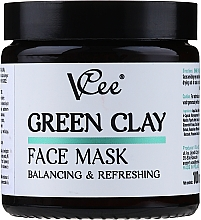 Parfumuri și produse cosmetice Mască din lut verde pentru față - VCee Green Clay Face Mask Balancing&Refreshing