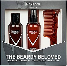 Parfumuri și produse cosmetice Set - Men Rock The Beardy Beloved Starter Nourishing Set (b/balm/100ml + b/soap/100ml + comb/1pcs)