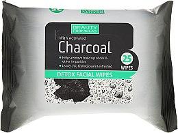 Духи, Парфюмерия, косметика Очищающие салфетки для лица с активированным углем - Beauty Formulas Charcoal Detox Facical Wipes