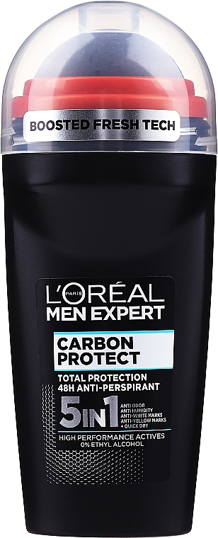 Deodorant roll-on - L'Oreal Paris Men Expert Carbon Protect AntiPerspirant Intense Ice Deo Roll-On