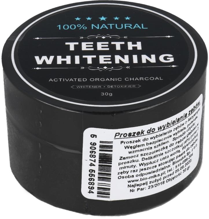 Pudră pe bază de cărbune activ, pentru albirea dinților - Biomika Natural Teeth Powder — Imagine N1
