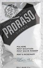 Parfumuri și produse cosmetice Pudră de față - Proraso Mint & Rosemary Post Shave Powder