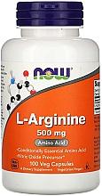"Parfumuri și produse cosmetice Aminoacid ""L-Arginina"", 500 mg - Now Foods L-Arginine Veg Capsules"