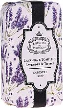 """Parfumuri și produse cosmetice Săpun natural """"Lavandă și cimbru"""" - Essencias De Portugal Natura Lavander&Thyme Soap"""