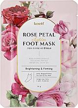 Parfumuri și produse cosmetice Mască pentru fermitate pentru picioare - Petitfee&Koelf Rose Petal Satin Foot Mask