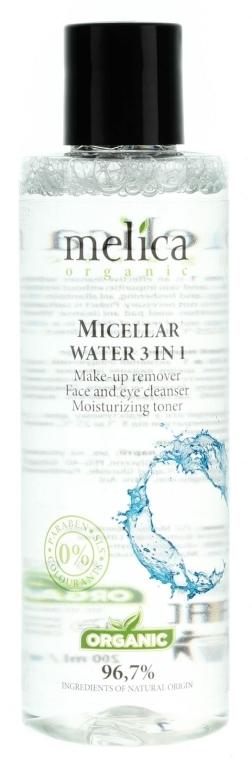Apă micelară 3în1 - Melica Organic Micellar Water 3 In 1 — Imagine N1