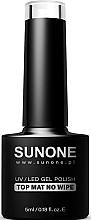 Parfumuri și produse cosmetice Top coat mat pentru gel-lac - Sunone UV/LED Gel Polish Top Mat No Wipe