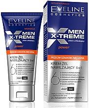 Parfumuri și produse cosmetice Gel cremă hidratant - Eveline Cosmetics Men X-Treme Power Anti-Fatigue Moisturising Cream-Gel 6in1