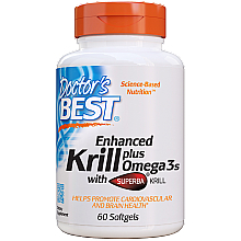 "Parfumuri și produse cosmetice Supliment alimentar ""Omega-3 cu krill"" - Doctor's Best Enhanced Krill Plus Omega 3s"