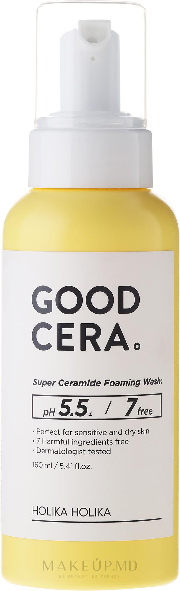 Spuma pentru curățarea tenului - Holika Holika Skin and Good Cera Foaming Wash  — Imagine 160 ml