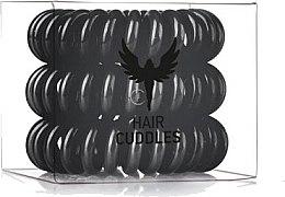 Parfumuri și produse cosmetice Elastice de păr, negru - HH Simonsen Hair Cuddles Black Set