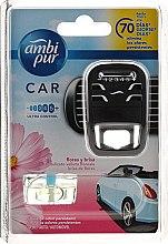 Parfumuri și produse cosmetice Set aromatizator pentru mașină - Ambi Pur Car Air Freshener For Her (freshener/1szt + refill/7ml)